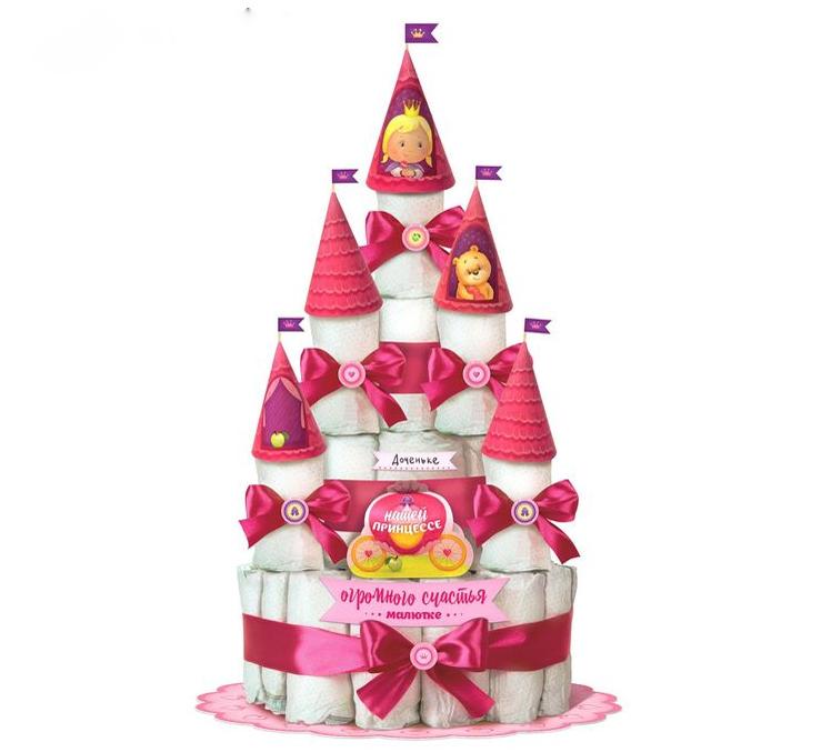 """Набор для создания торта из подгузников для девочки """"Принцесса"""""""