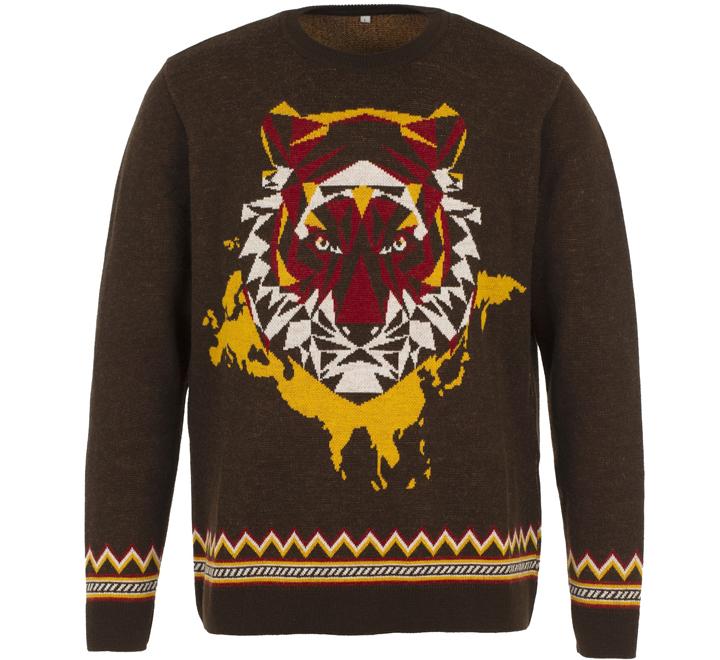 Джемпер унисекс Totem Tiger, коричневый