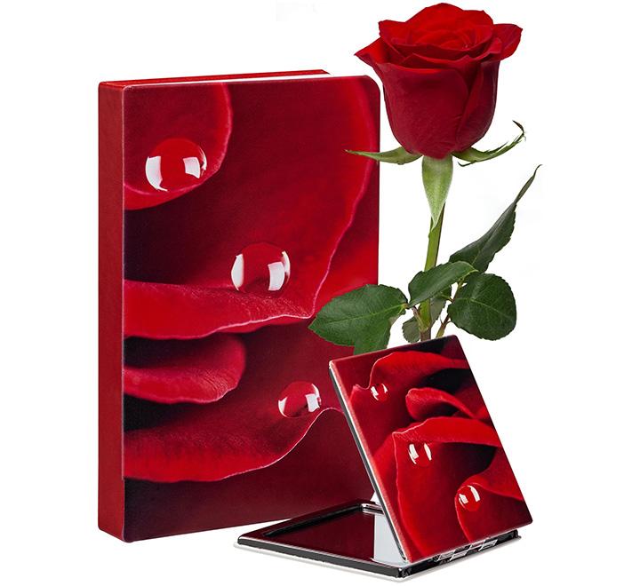 Набор «Роза»: ежедневник и зеркало