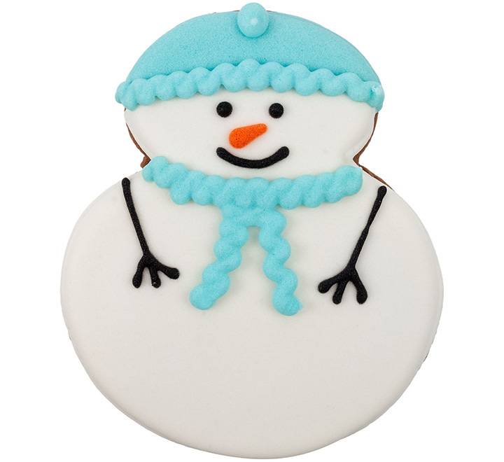 """Новогоднее печенье """"Снеговик"""""""