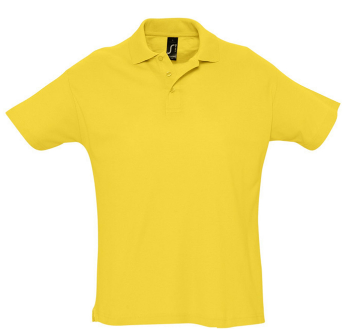 "Рубашка-поло желтая ""Summer"", арт.1379 SALE"