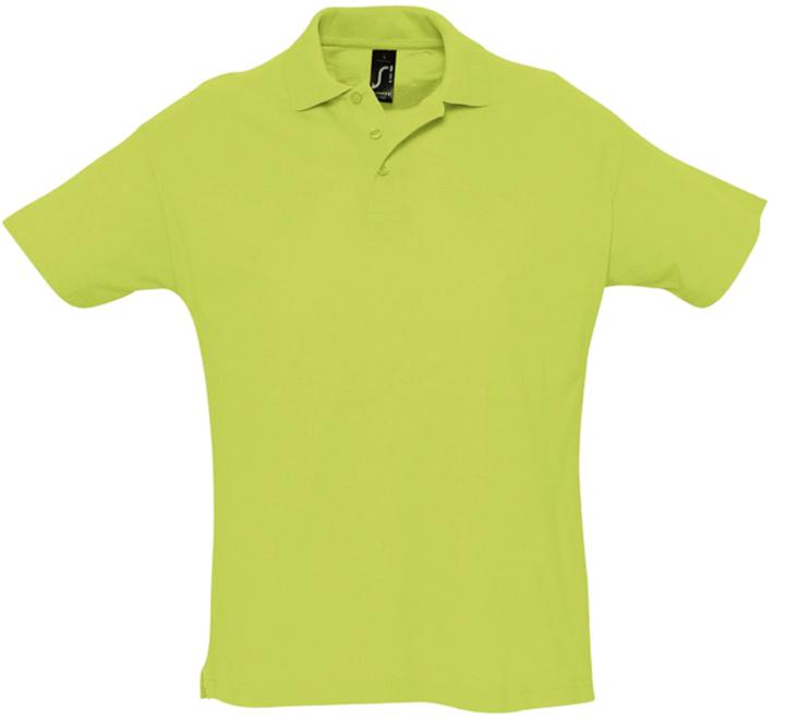 Рубашка-поло цвет зеленое яблоко SALE