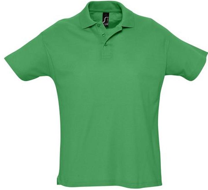 Рубашка поло мужская зеленая Summer, арт.1379 SALE