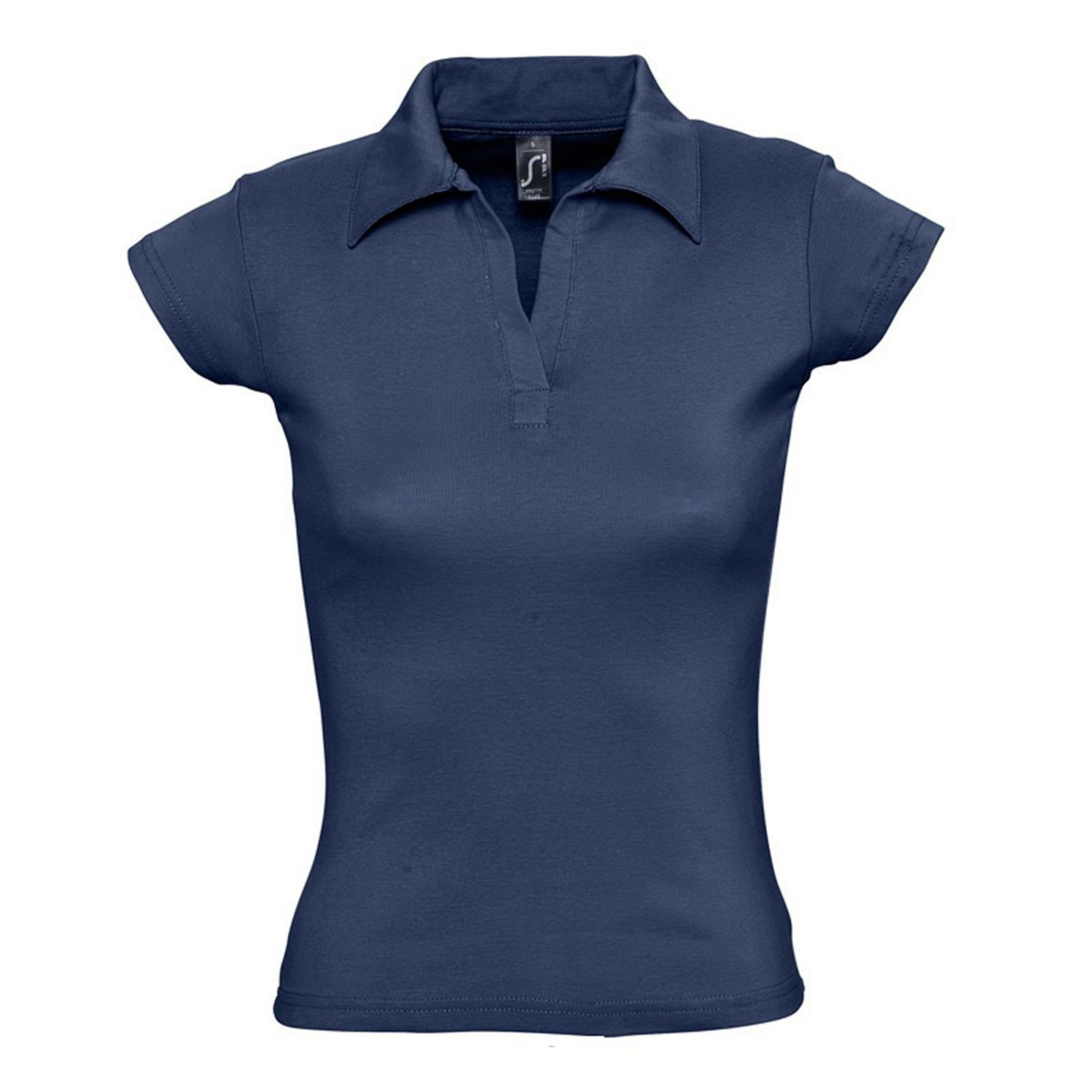 Рубашка поло женская без пуговиц темно-синяя RETTY. арт. 1835 SALE