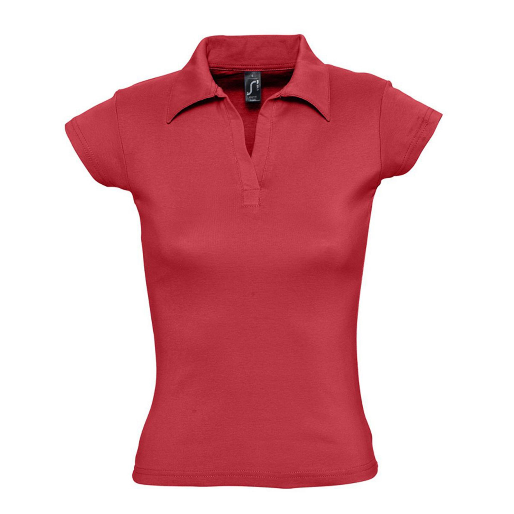 Рубашка поло женская без пуговиц красная PRETTY. арт. 1835 SALE