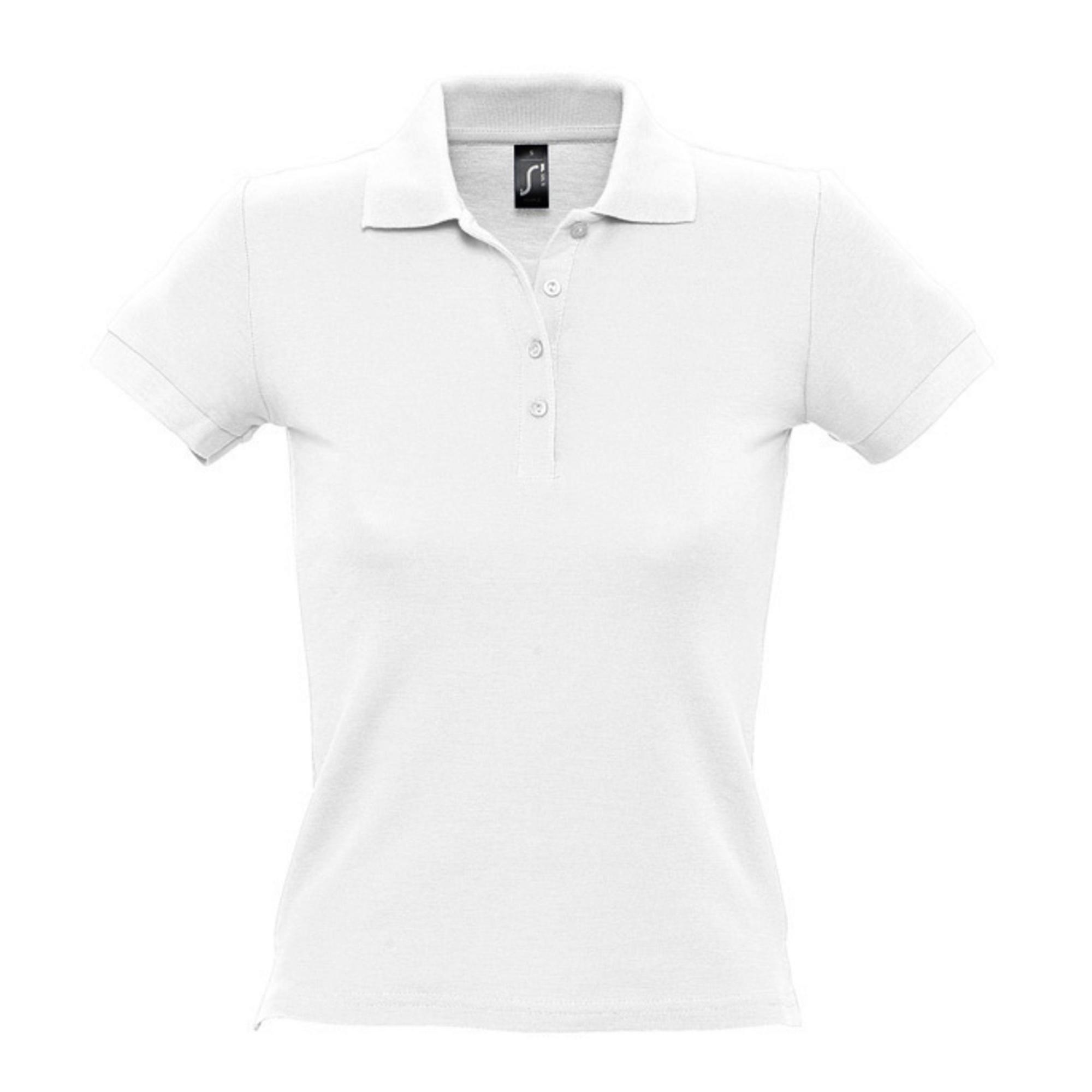 Рубашка поло женская белая PASSION. арт.4798 SALE