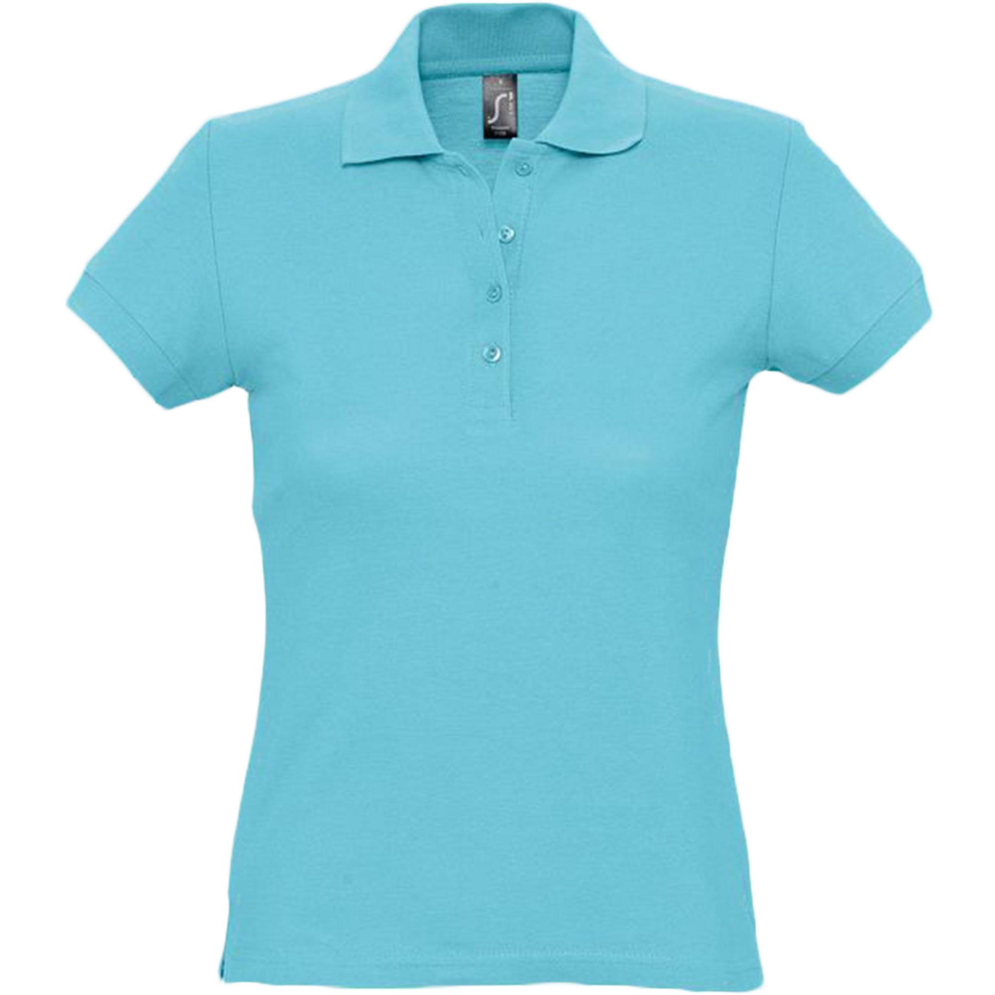 Рубашка поло женская бирюзовая PASSION. арт.4798 SALE