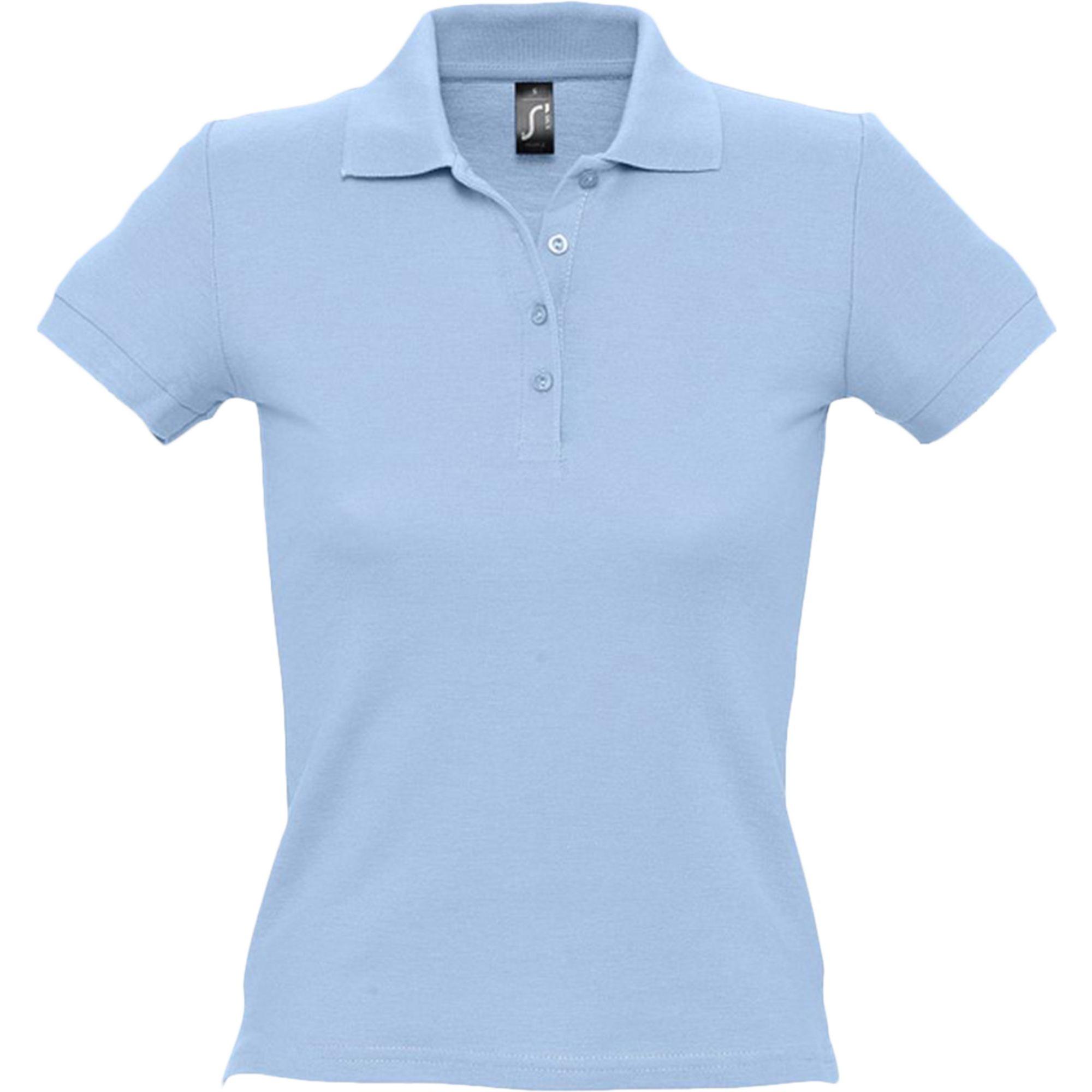 Рубашка поло женская голубая PASSION. арт.4798 SALE