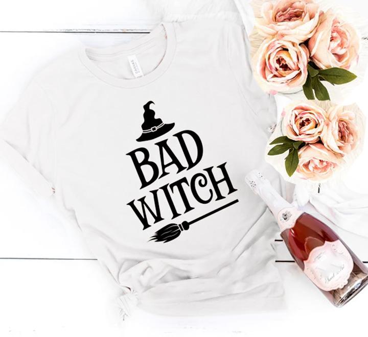 Футболка женская приталенная Bad Witch метла