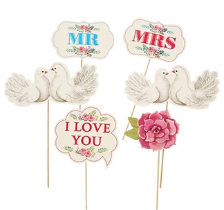 """Набор для свадебной фотосессии """"Mr Mrs"""" голубки"""