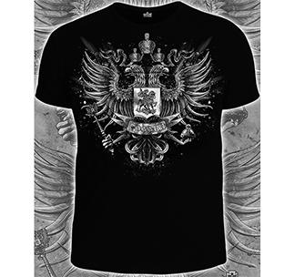 """Футболка черная """"Герб России"""" арт.14-1662"""