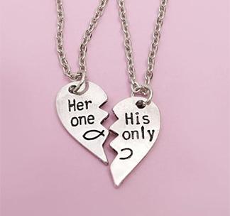 """Кулоны """"Половинки сердца"""" для него и неё"""