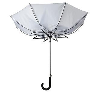 Зонт с системой защиты от ветра, серый арт. 2392