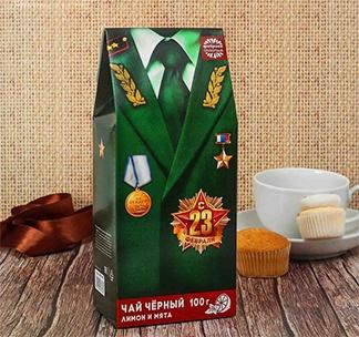 """Чай чёрный """"23 Февраля"""" Мундир (большая пачка)"""
