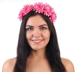 """Ободок для девичника """"Венок из розовых цветов"""""""