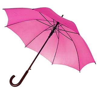 Зонт-трость с деревянной ручкой Фуксия арт 393
