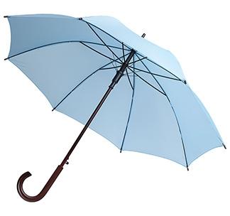 Зонт-трость с деревянной ручкой Голубой арт 393.14
