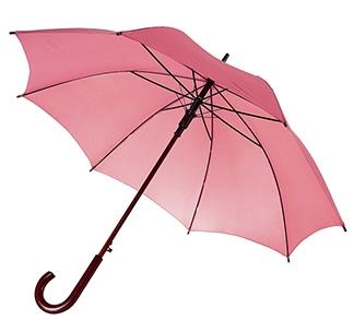 Зонт-трость с деревянной ручкой Розовый арт 393.15