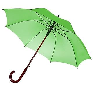Зонт-трость с деревянной ручкой Салатовый арт 393