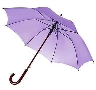 Зонт-трость с деревянной ручкой Сиреневый арт 393.71