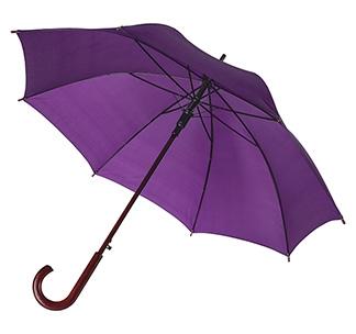 Зонт-трость с деревянной ручкой Фиолетовый арт 393