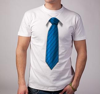 Футболка 3D галстук /синий/ SALE