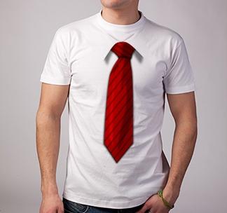 Футболка 3D галстук /красный/