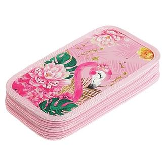 """Пенал 2 секции """"Фламинго"""""""