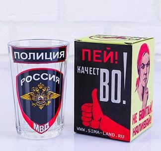 """Стакан граненый """"Полиция. МВД"""""""