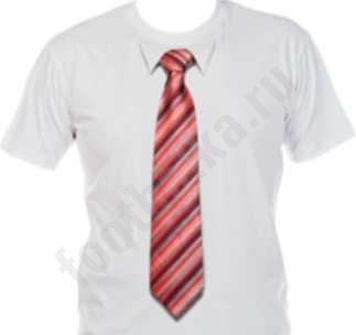 Футболка с 3D галстуком BAND 50 SALE