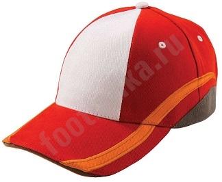 Бейсболка UNIT SPORT, белая с красным, арт.4722.65