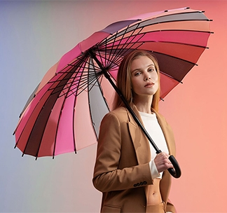 """Зонт трость """"Спектр розы"""" арт 5380.15"""