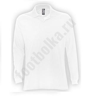 Рубашка поло мужская с длинным рукавом STAR, арт. 5420