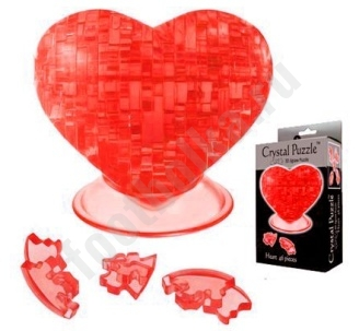 "3D головоломка ""Сердце""  красное арт. 90012bum"
