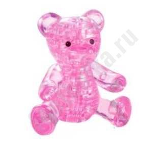 """3D головоломка """"Мишка"""" розовый, арт. 90314"""