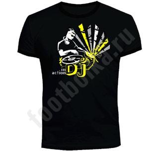 """Футболка FREEdom """"DJ in Action"""" светится в УФ"""