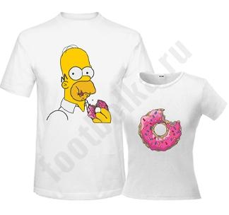 """Мужская футболка """"Гомер и пончик"""" SALE"""