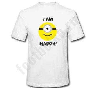 """Футболка """"I'm Happy"""" миньон"""