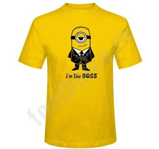 """Футболка """"I'm the BOSS"""" миньон"""