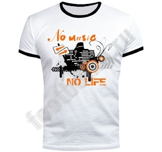 "Футболка FREEdom ""No music. No life"" светится в УФ"