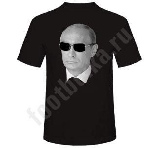 """Футболка """"Путин в очках"""" черная"""