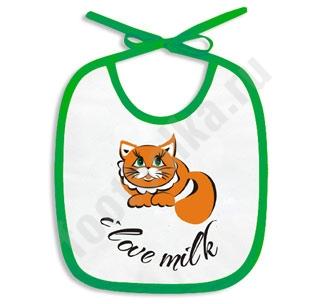 "Слюнявчик ""I love Milk"" /кот/"