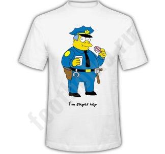 """Футболка """"I am super cop"""" симпсон"""