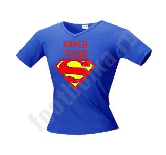 "Футболка ""Супер ТЕЩА"" супермен"