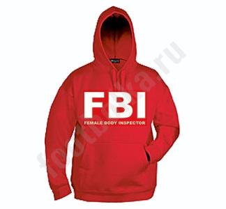 """Мужская толстовка с капюшоном """"FBI"""""""