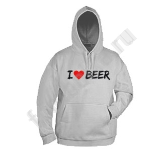 "Толстовка с капюшоном ""I love beer"""