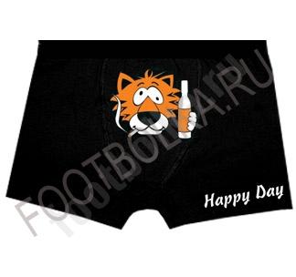 """Трусы мужские с тигром """"Happy day"""""""