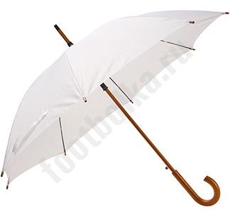 Зонт-трость с деревянной ручкой Белый арт.393