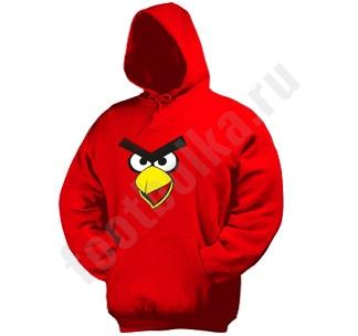 """Толстовка красная """"Angry Bird"""""""