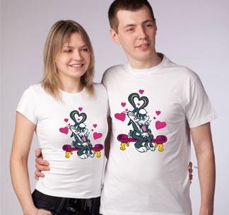 """Парные футболки """"Bunny love"""""""